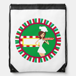 Pizza Party Drawstring Backpack