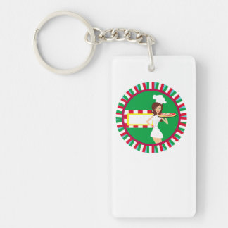 Pizza Party Key Ring