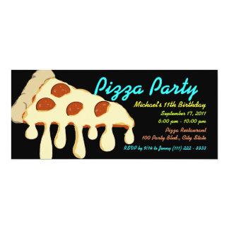 Pizza Party Neon Custom Invitations