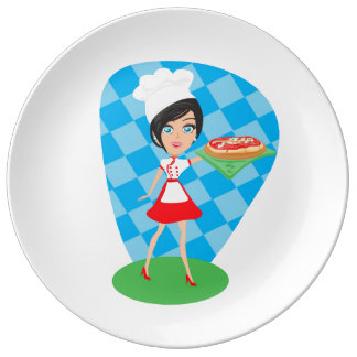 Pizza Party Porcelain Plate
