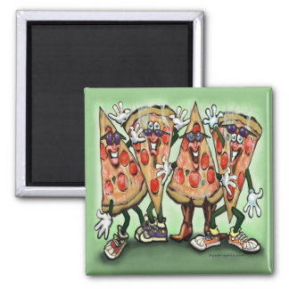 Pizza Party Square Magnet