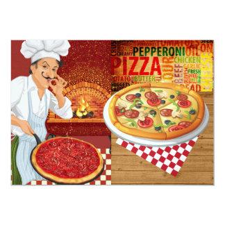 Pizza Party - SRF 13 Cm X 18 Cm Invitation Card