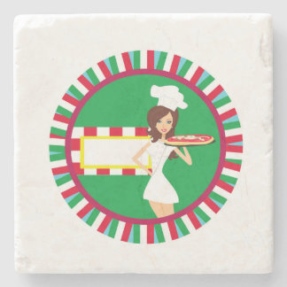Pizza Party Stone Coaster