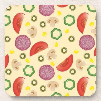 Pizza Pattern 2 Coaster