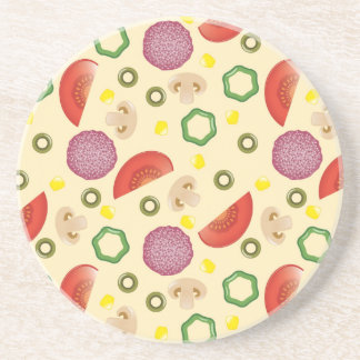 Pizza Pattern 2 Coaster