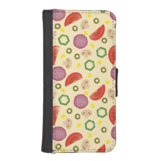 Pizza Pattern 2 iPhone SE/5/5s Wallet Case