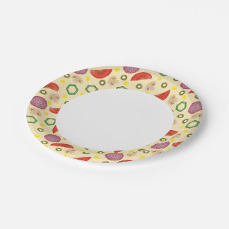 Pizza Pattern 2 Paper Plate