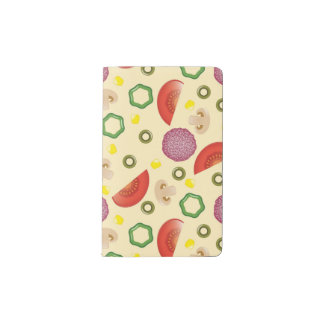 Pizza Pattern 2 Pocket Moleskine Notebook
