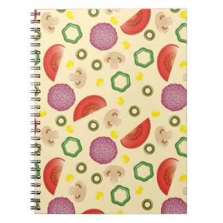 Pizza Pattern 2 Spiral Notebook