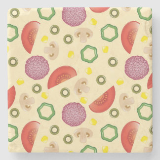Pizza Pattern 2 Stone Coaster
