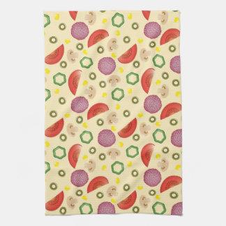 Pizza Pattern 2 Tea Towel