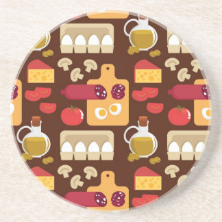 Pizza Pattern Coaster