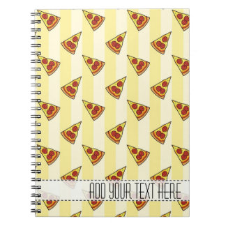 Pizza Pattern Custom Notebook