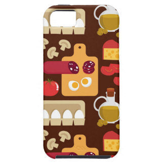 Pizza Pattern iPhone 5 Cases