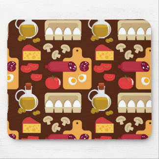 Pizza Pattern Mouse Mat