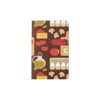 Pizza Pattern Pocket Moleskine Notebook