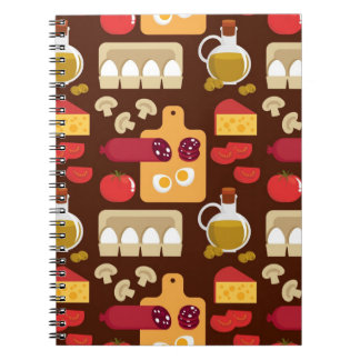 Pizza Pattern Spiral Notebook