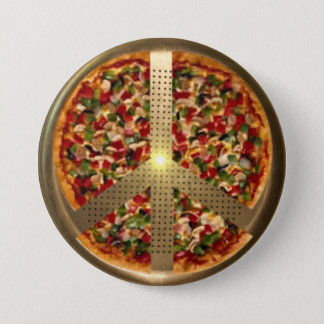 Pizza Peace Sign Button