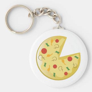 Pizza Pie Basic Round Button Key Ring