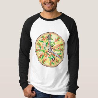 Pizza Pie Clock Tee Shirt