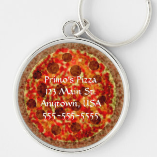 Pizza Pizzeria Delivery Car Keychains
