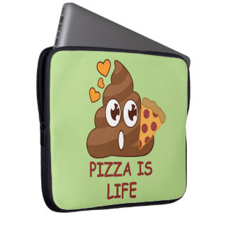Pizza Poop Life Computer Sleeves