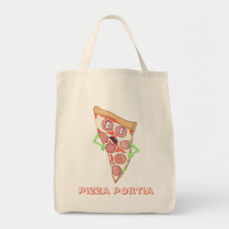"""Pizza Portia"" Grocery Bag"