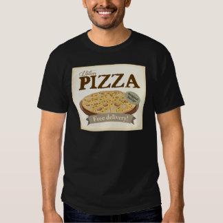 Pizza poster tee shirt