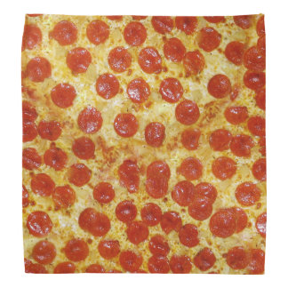 Pizza Print on Bandana