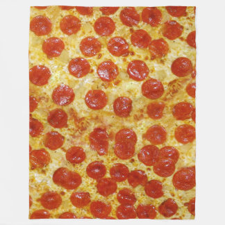 Pizza Print on Fleece Blanket