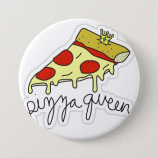 Pizza Queen 7.5 Cm Round Badge