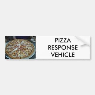 Pizza Response Vehicle Bumper Sticker