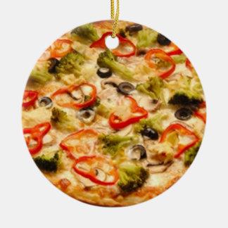 Pizza Round Ceramic Decoration