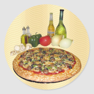Pizza Round Sticker