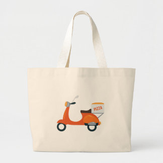 Pizza Scooter Jumbo Tote Bag