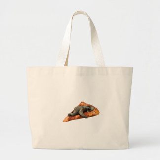Pizza Slaoth Large Tote Bag