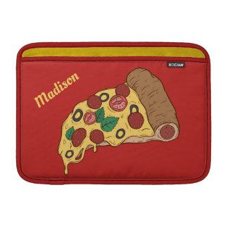 Pizza Slice custom monogram & text macbook sleeves