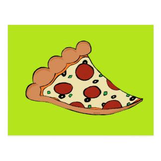 Pizza slice design postcard