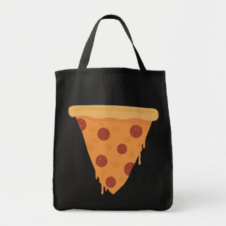 Pizza Slice Grocery Tote Bag