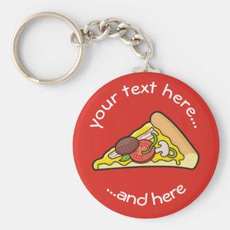 Pizza slice key ring