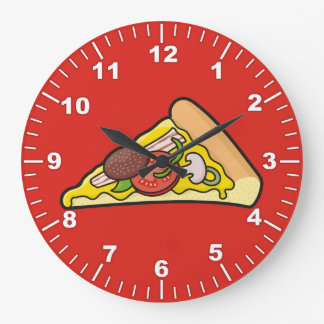 Pizza slice large clock