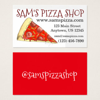 Pizza Slice Pepperoni Cheese Pizzeria Food Foodie Business Card