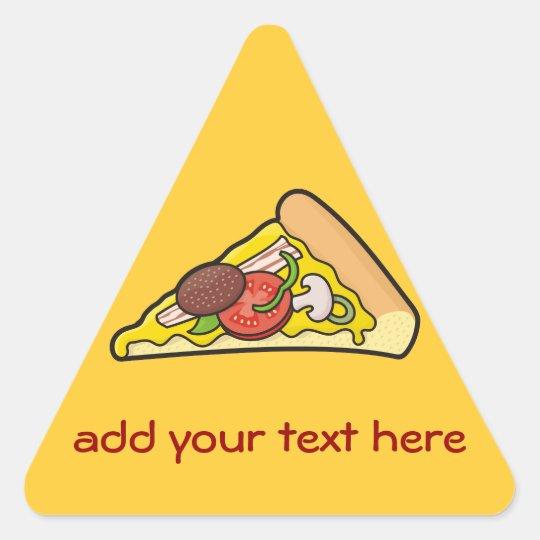 Pizza slice triangle sticker