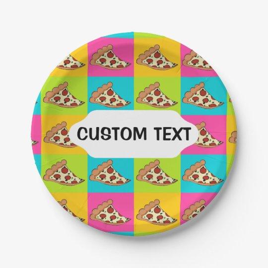 Pizza slices custom paper plate