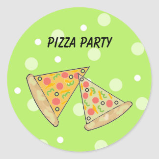Pizza Slices Pizza Party Round Sticker