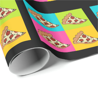 Pizza slices tiled design wrapping paper