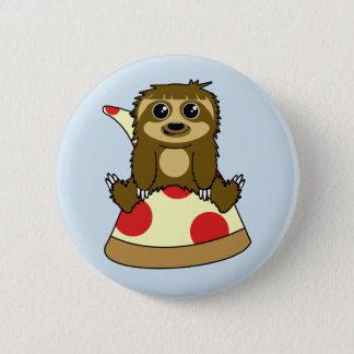 Pizza Sloth 6 Cm Round Badge