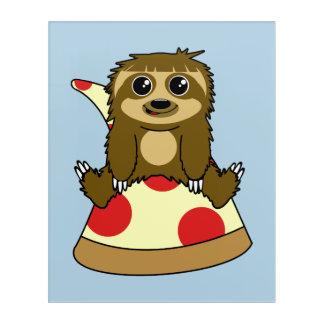 Pizza Sloth Acrylic Wall Art