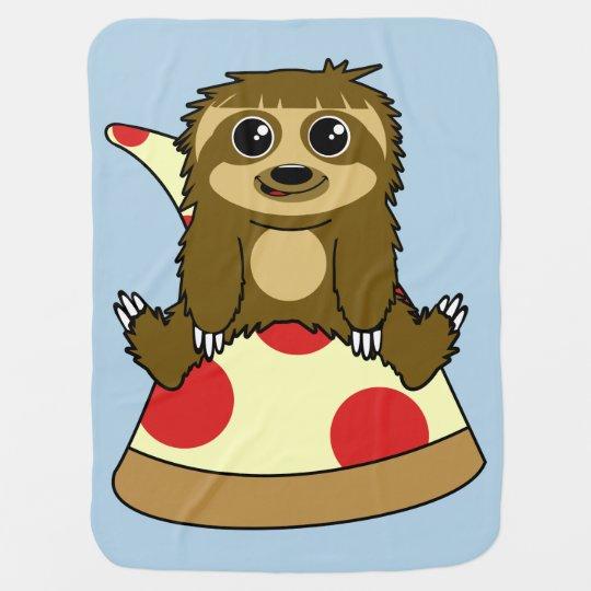 Pizza Sloth Baby Blanket