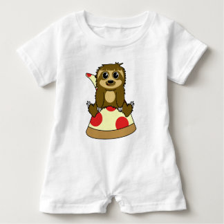 Pizza Sloth Baby Bodysuit